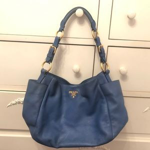Blue Prada Tote Bag